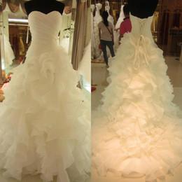 Bride Dresses Skirts Australia - Gorgeous Mermaid Wedding Dresses For Bride New 2019 Long Ruffles Skirt Court Train Sweetheart Strapless Bridal Gowns Cheap Plus Size