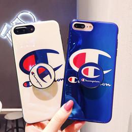 Опт Оптовая модный бренд подставка телефон чехол для Iphone X/XS XR XSMAX 8plus 7plus 8 7 6 / 6sP 6 / 6s с модный бренд письмо печатных
