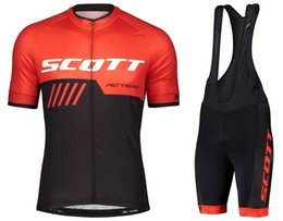 $enCountryForm.capitalKeyWord UK - Hot Sale Scott Short Sleeves Cycling Jersey Bib Short Sets Ropa De Ciclismo Maillot Bike Clothes Bicycle 9D Gel Pad Breathable Clothing