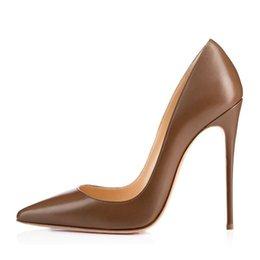 Женские туфли на высоком каблуке 2019 новые женские наконечники 12см на высоком каблуке размер шпильки размер 34-46 на Распродаже