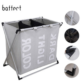 $enCountryForm.capitalKeyWord NZ - Dirty Clothes Storage Laundry Hamper Waterproof Oxford Cloth Three Grids Classified Basket In The Bathroom C19041701