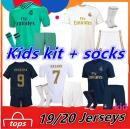 Real madRid socceR jeRsey kids Ronaldo online shopping - HAZARD Real Madrid Kids kit socks Ronaldo MODRIC soccer jerseys VINICIUS BENZEMA football shirts Boys camiseta de futbol