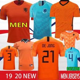 Kids world soccer jerseys online shopping - 2019 Thai DE JONG Netherlands Soccer Jerseys DE LIGT VIRGIL PROMES Retro Men Kids World Cup Football Shirts VAN DIJK VIRGIL