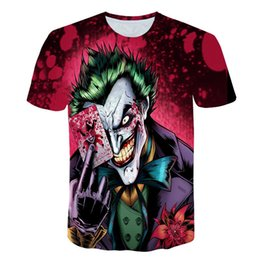 b30912ade70ad 2019 New Style Men T-shirt 3d Print Zombie Clown 3d Tshirts Poker Anime Hip  Hop Summer Tops Tees Fashion