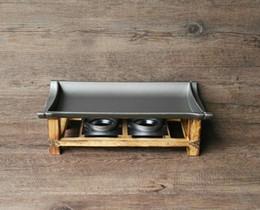 $enCountryForm.capitalKeyWord Australia - Non Sticky Grill Plates Pan Teppanyaki Tray Korean Japanese Cuisine Bamboo Flaps Barbecue Tools Universal Griddle for BBQ Heater Food Warmer