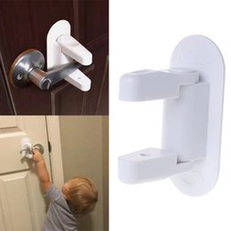 $enCountryForm.capitalKeyWord NZ - Baby Safety Lock Door Lever Home Newborn Kids Children Protection Doors Handle Universal Adhesive Compatible Professional