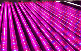 free grow light systems UK - free ship 10pcs\1 lot LED Grow Light LED Plant Grow T5 LED Tube for Hydroponics System Flower Plant Grow Box Tent