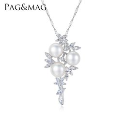 $enCountryForm.capitalKeyWord UK - PAG&MAG Natural White Bread Pearl Grape Shape Crystal Necklace Europe Style Bridal Women Wedding Party Jewelry Accessories
