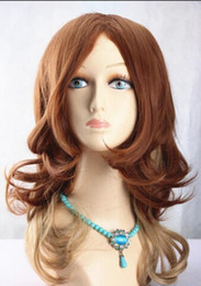$enCountryForm.capitalKeyWord Australia - WIG free shipping Sexy curly long light brown invisible part carve lace front wig