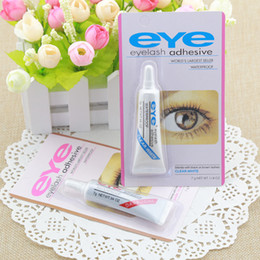 Blue eyelashes online shopping - Hot Eye Lash Glue Black White Makeup Adhesive Waterproof False Eyelashes Adhesives Glue White And Black Available