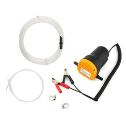Supply Hose UK - Supply System Fuel Pumps 12V Car Engine Oil Pump Motor Fuel Oil Extractor Scavenge Suction Transfer Pump with Hose for Auto