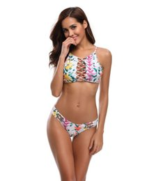 China The new printed bodice cross strap split beautiful swimsuit bikini Hot style sexy women one-piece monokini swimsuit suppliers