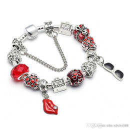 big lip gifts Australia - Hot 2017 UpPoint Diy big hole oil Europe and the United States explosion models Pandora beaded jewelry red lip pendant bracelet wholesale