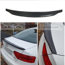 $enCountryForm.capitalKeyWord Australia - Caractere Style Wing For Audi A5 Spoiler 2013 2014 2015 2016 2017 A5 Carbon Fiber Rear Spoiler Rear Trunk Spoiler 2 doors Coupe