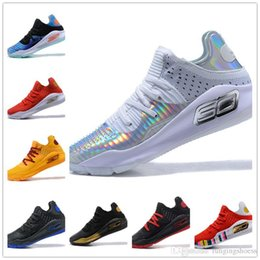 8f9610e7b64d 2019 with box Under Armour Stephen Curry 4 Low Cut mens Basketball Shoes  Curry 4 Gold Championship MVP Finals Sports training Sneakers