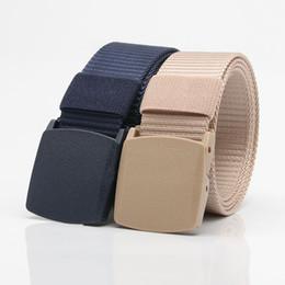 $enCountryForm.capitalKeyWord Australia - Nylon Military Tactical Men Belt Webbing Canvas Outdoor Web Belt With Plastic Buckle