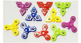 spinner vent NZ - 5.5cm steel ball mini Hand Spinner triangle fingertip gyro finger decompression venting finget spinner spiral toy