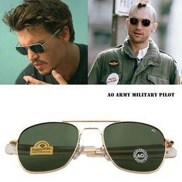 22b355cb34cd American Optical Sunglasses Australia - Fashion Classical Aviation  Sunglasses Men AO Sun Glasses For Male American