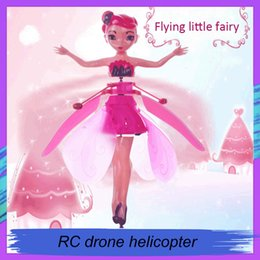 Diy toys for girls online shopping - 2019 DIY Flying Fairy Dolls Toy Mini RC Drone Infrared Induction Control LED Light Flying Fairies Doll Helicopter Toys for Girls Xmas Gift