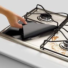 Kitchen Stove Australia - Reusable Gas Stove Protectors Trivets Burner Cover Liner Fire Injuries Protection Mat Kitchen Gadget