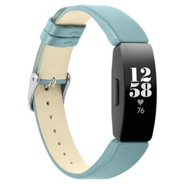 wrist watch leather strap replacement 2019 - 7 Colors Solid Leather Watch Band for Fitbit Inspire HR Watchband Replacement Strap For Fitbit Inspire Wrist Belt Access