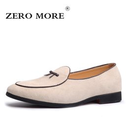 $enCountryForm.capitalKeyWord Australia - ZERO MORE Slip On Men Shoes Black Genuine Pig Leather 2019 Suede Moccasins Tie Mens Shoes Casual Loafers Fashion Tassel Design