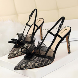 Black Evening Dresses For Ladies Australia - summer high heels slingback fashion heels elegant shoes for woman wedding shoes bride evening ladies shoes zapatos de mujer high heels