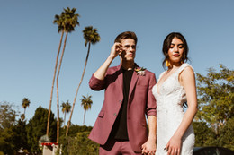 $enCountryForm.capitalKeyWord Australia - Evening Dress Custom Made Pattern Men Suits Stage Tuxedo Wedding Suits For Man Blazer Bridegroom Prom Jacket+Pants
