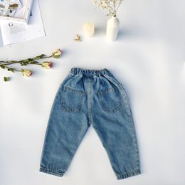 $enCountryForm.capitalKeyWord Australia - New arrival Korean style all-match casual jeans for kids boys and girls cotton Custom Fit denim pants