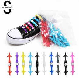 $enCountryForm.capitalKeyWord NZ - 12pcs Lazy No Tie Elastic Silicone Shoe Laces Athletic Silicone Lace Shoelaces Adult Kids Cordones Magnetic Shoelace