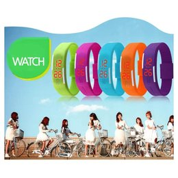 Men Digital Wrist Watches Australia - New Fashion LED Watches Sport Digital Display Bracelet Wrist Watch Silicone Touch Screen candy band for men women Children's Students