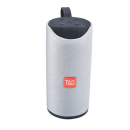 $enCountryForm.capitalKeyWord UK - TG113 Outdoor Speaker BT Portable Speaker Round Column Fabric Art Wireless Mini TF Card and USB Disk FM AUX Loudspeaker