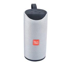 Art Player UK - TG113 Outdoor Speaker BT Portable Speaker Round Column Fabric Art Wireless Mini TF Card and USB Disk FM AUX Loudspeaker