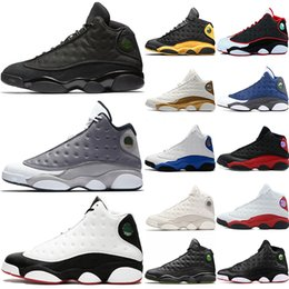 Table Cat Box Australia - 13s Basketball Shoes 13 Men Atmosphere Grey He Got Game black cat Class of 2003 Phantom Bred Mens Trainer Sports Sneakers Size 41-47