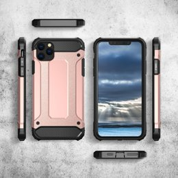 iphone heavy duty metal case Australia - UK Wholesale 20pcs Heavy duty tpu pc Armor Case For iPhone 11 Pro x xr xs max 7 8 Plus For Samsung Note 10 S10 Plus