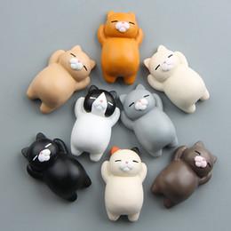 $enCountryForm.capitalKeyWord Australia - Kawaii 3D Cat Fridge Magnet Creative Cartoon Animal Refrigerator Sticker Home Car Phone Case Decoration Accessary