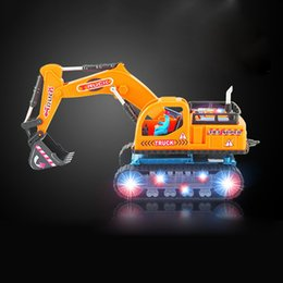 excavators toys Australia - Car Toys Electric All-Direction Luminous Musical Handled Lantern Engineering Vehicle Model Excavator Kids Toys