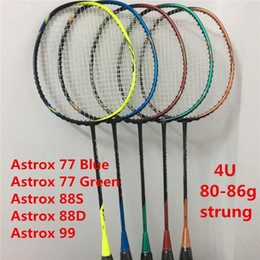 Badminton Racket Astrox 77 88 99 4U Strung Badminton Rackets Astrox Series Racquet Astrox 88 on Sale