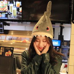 doll homes NZ - New Shark Cap Funny Hat Plush Toy Doll Plush Soft Stuffed Toys For Children Girls Gifts Ornaments Decoration For Home