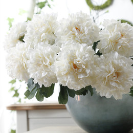 $enCountryForm.capitalKeyWord Australia - Artificial Peony Flowers Short Branches Fake Silk Peonies For Home Wedding Party Garden Decoration Cheap Flowers