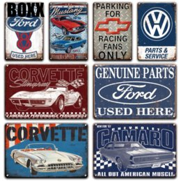 vintage fashion signs Canada - Old Fashion Citroen Car Ford Metal Tin Sign Vintage service & repair Garage Metal Wall Art Poster Signs Garage Home Decoration