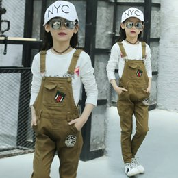 $enCountryForm.capitalKeyWord NZ - Children Girls Khaki Winter Long Overalls for Teenage Girls Skinny Pants Autumn Casual Clothes for 4 5 6 7 8 9 10 11 12 13 Years