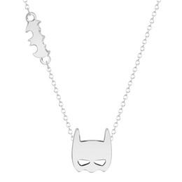 Batman Pendants Australia - Movie Jewelry Gold Silver Batman Logo Charm Pendant Necklace Marvel Super Hero Cosplay Pendant Necklace