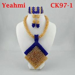 White Chunky Bead Necklace Australia - Chunky Gold Crystal Beads Women  Necklace Bridal Fashion Jewelry Wedding 0c1addd0e9b5