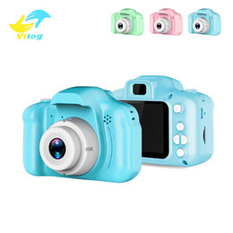 Slr Screen NZ - 2 Inch HD Screen Chargable Digital Mini Camera Kids Cartoon Cute Camera Toys Outdoor Photography Props for Children Birthday Gift