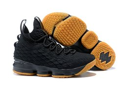 Black Cushioned High Tops Australia - 2019 15 black volt men's basketball shoes black gold and white breathable cushioning combat high-top combat boots knight men's sneakers a32