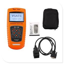 Vgate da ferramenta VS100 da varredura de Vgate OBDII / EOBD auto diagnóstico do Multi-Brand com frete grátis venda por atacado