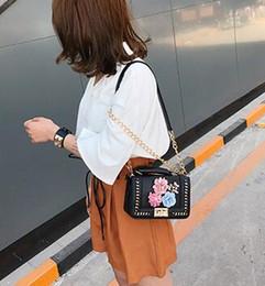 $enCountryForm.capitalKeyWord Australia - 2019 new woven chain contrast color flower pearl small square bag shoulder Messenger bag handbag With Free Shipping