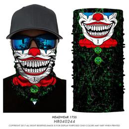 $enCountryForm.capitalKeyWord Australia - 3D Seamless Joker Clown Cosplay Tube Neck Warmer Neckerchief Scarf Half Face Mask Halloween Paintball Headband Bandana