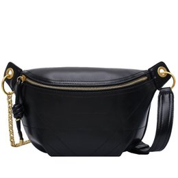 quality ladies handbags Australia - Solid Color PU Leather Crossbody Bags For Women 2020 Quality Chain Shoulder Messenger Bag Lady Travel Handbags Waist Packs